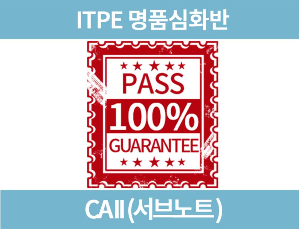15. (ITPE 명품심화) CAII (서브노트)